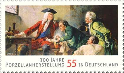Briefmarke 300 Jahre Porzellanherstellung