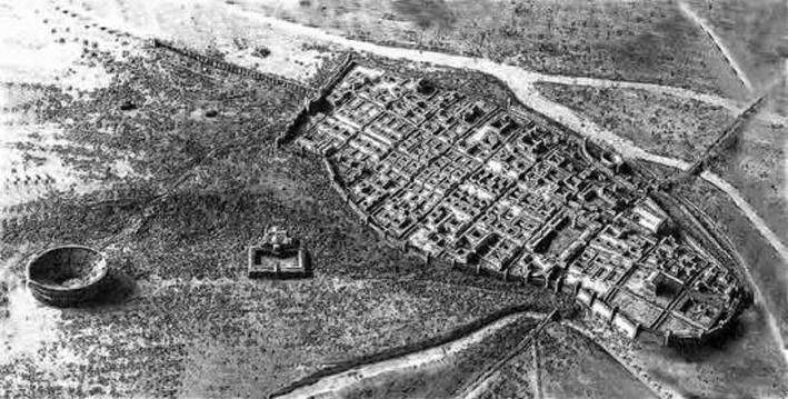 Modell der römisch-keltischen Siedlung (Divodurum Mediomatricorum)