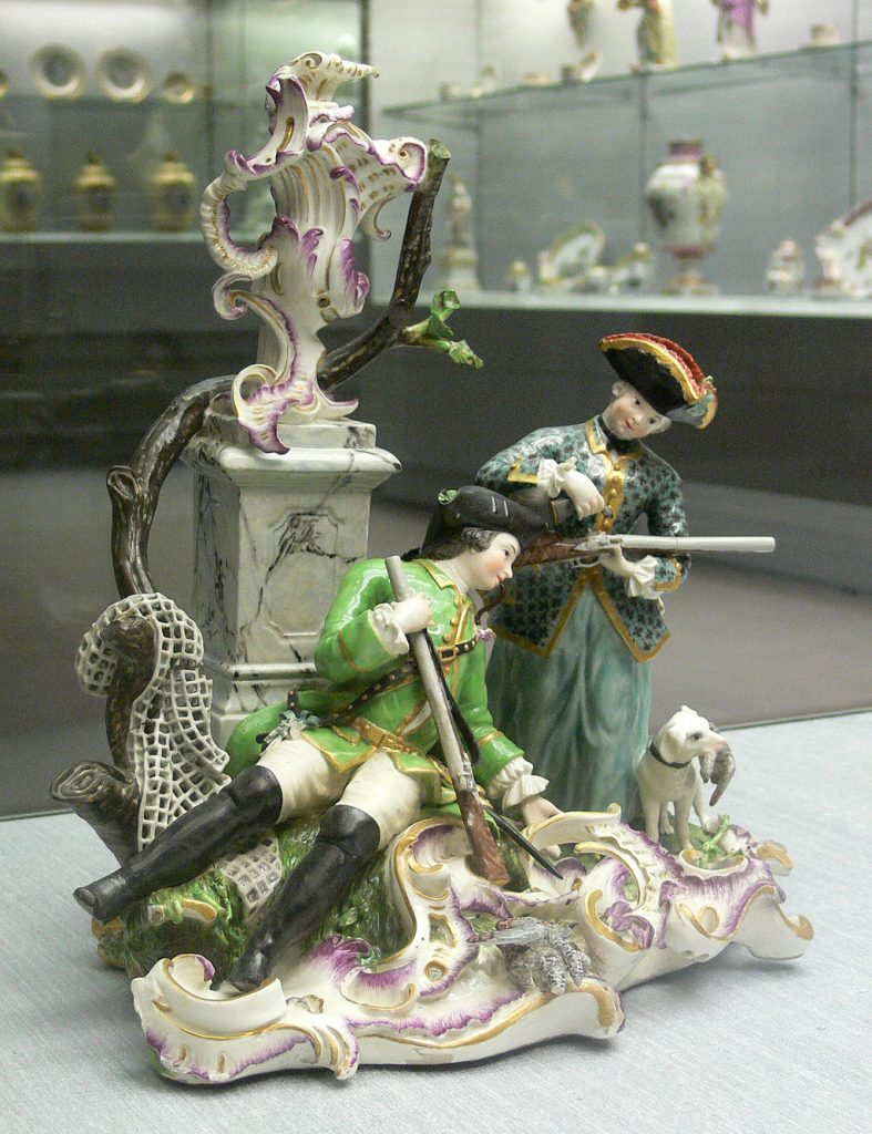 Jagdgruppe Frankenthaler Porzellan