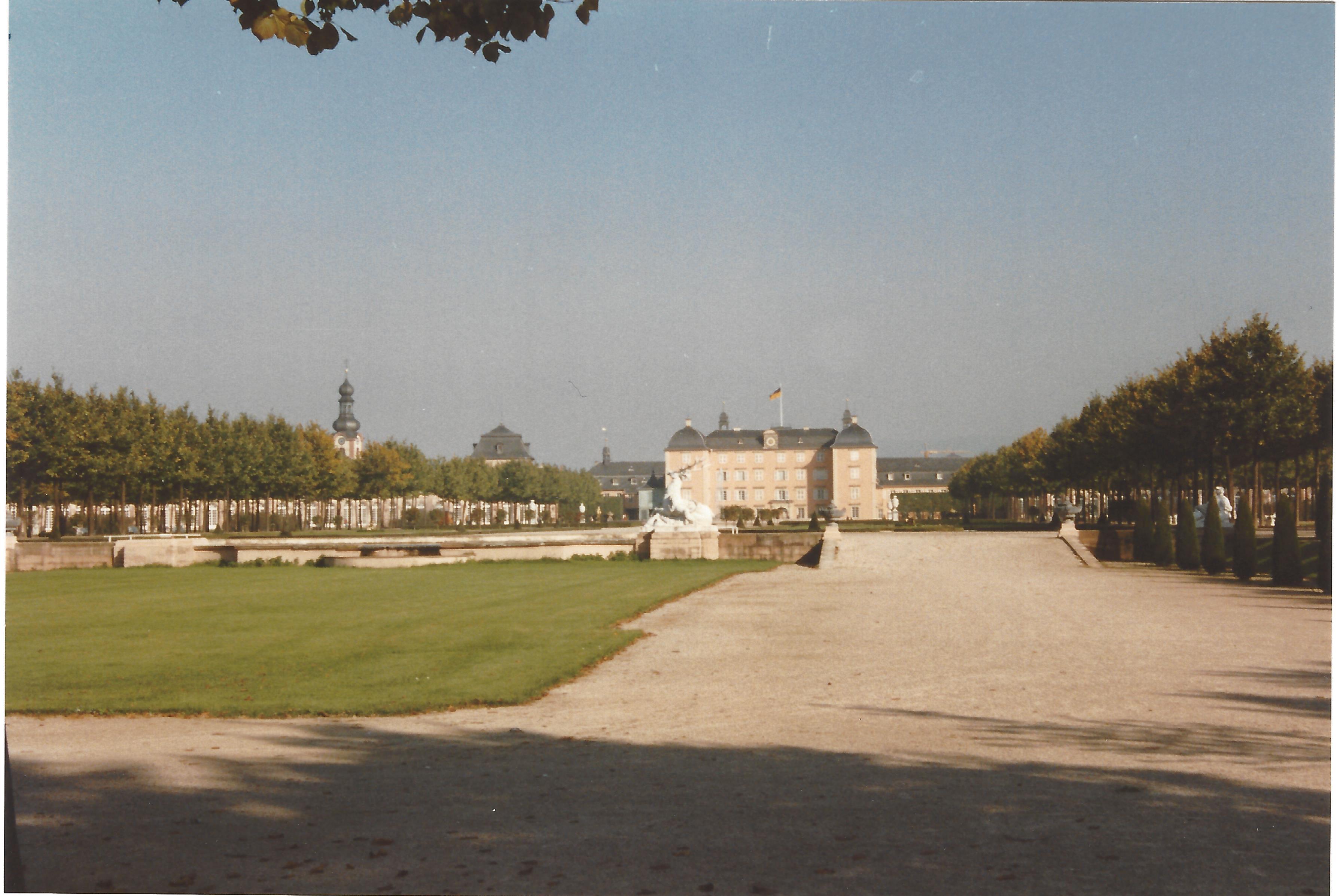 Rückansicht Schloss Schwetzingen