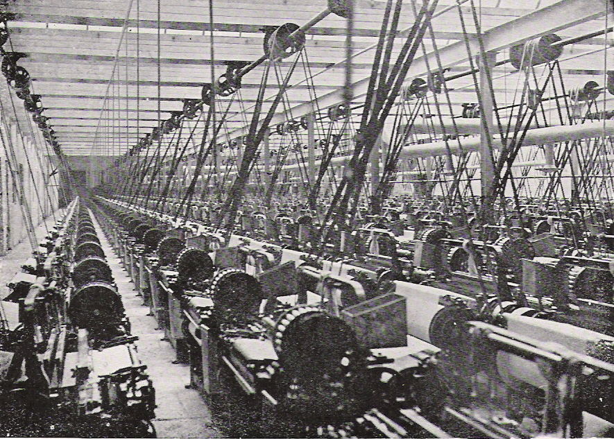 Webstühle - Geschichte der Baumwollspinnerei