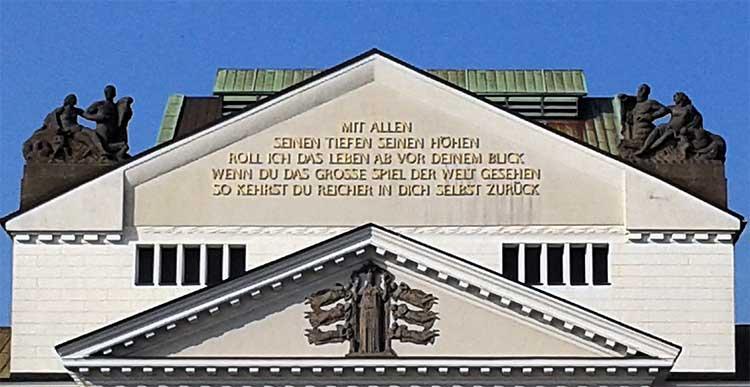 Inschrift Theater Duisburg