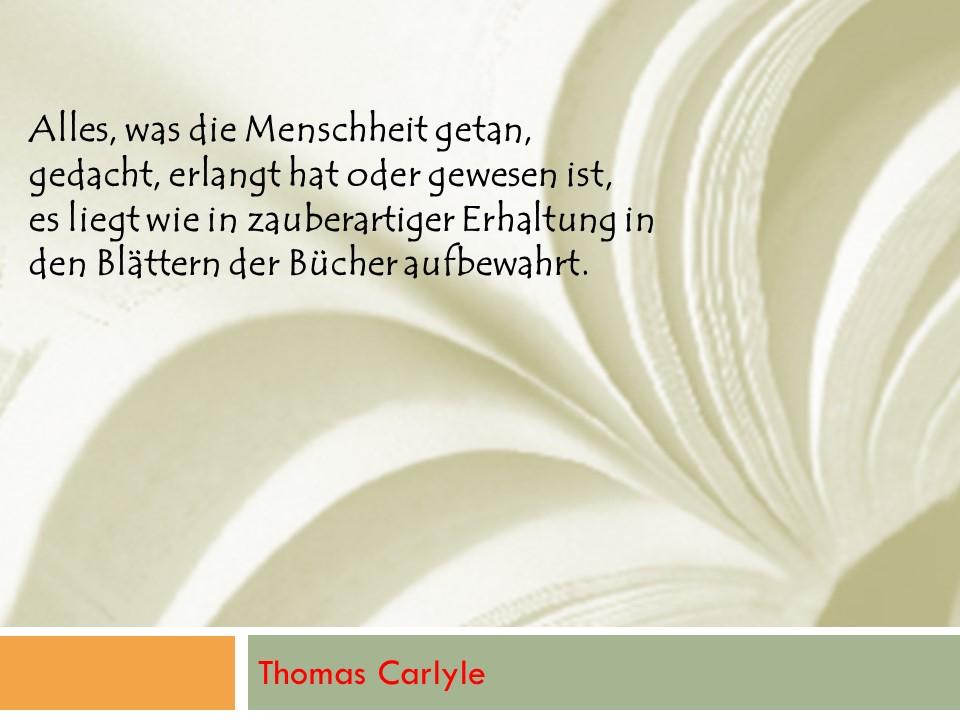Carlyle: Bücher