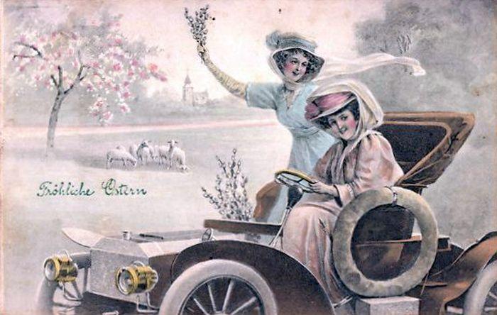 Postkarte 1909 Ostern