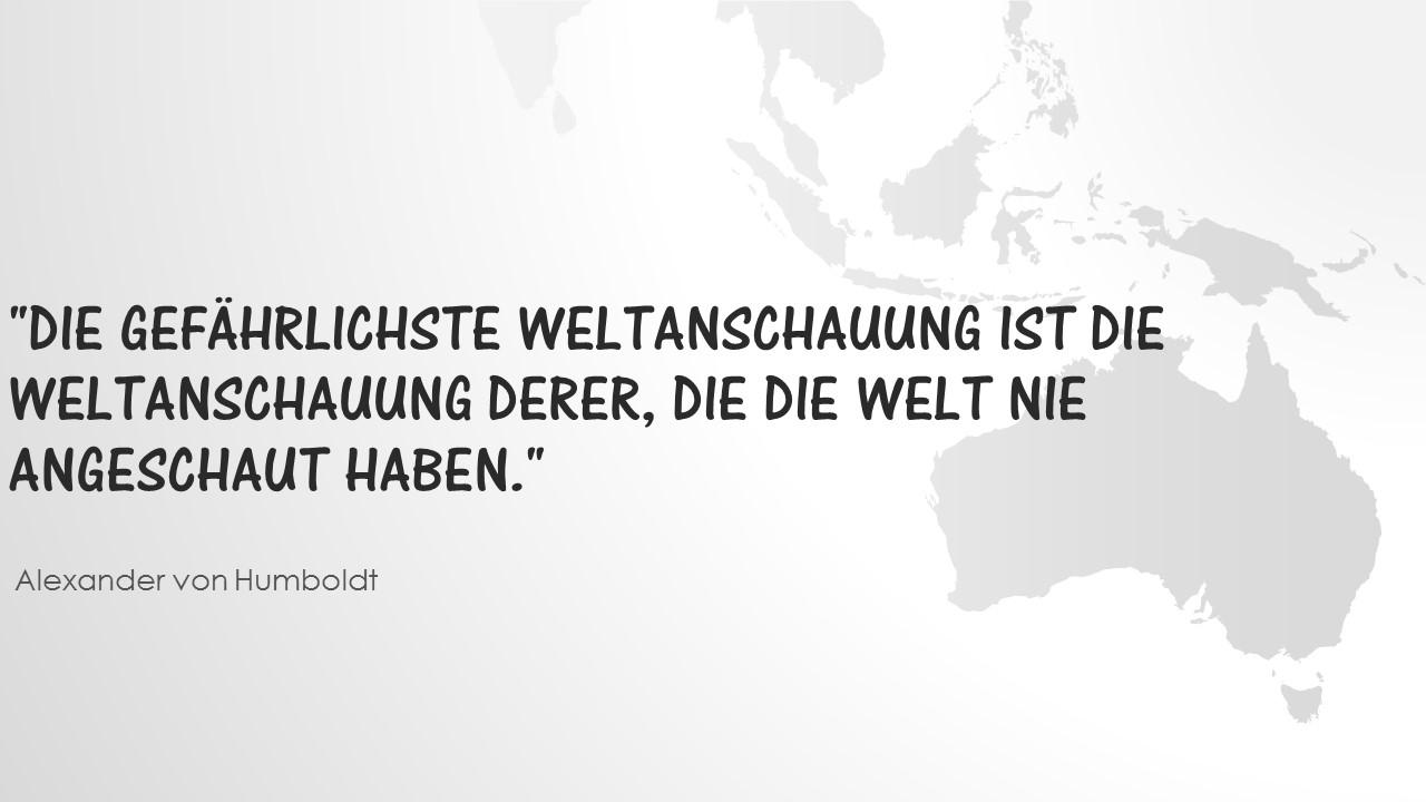 Alexander von Humboldt über die Anschauung der Welt