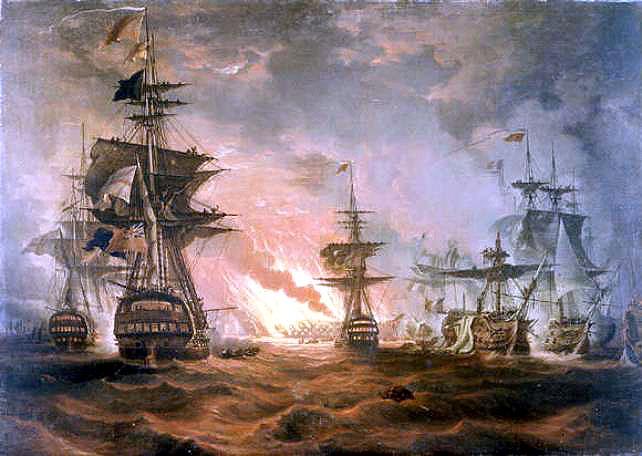 Thomas Luny, Seeschlacht bei Abukir, #DHMMeer
