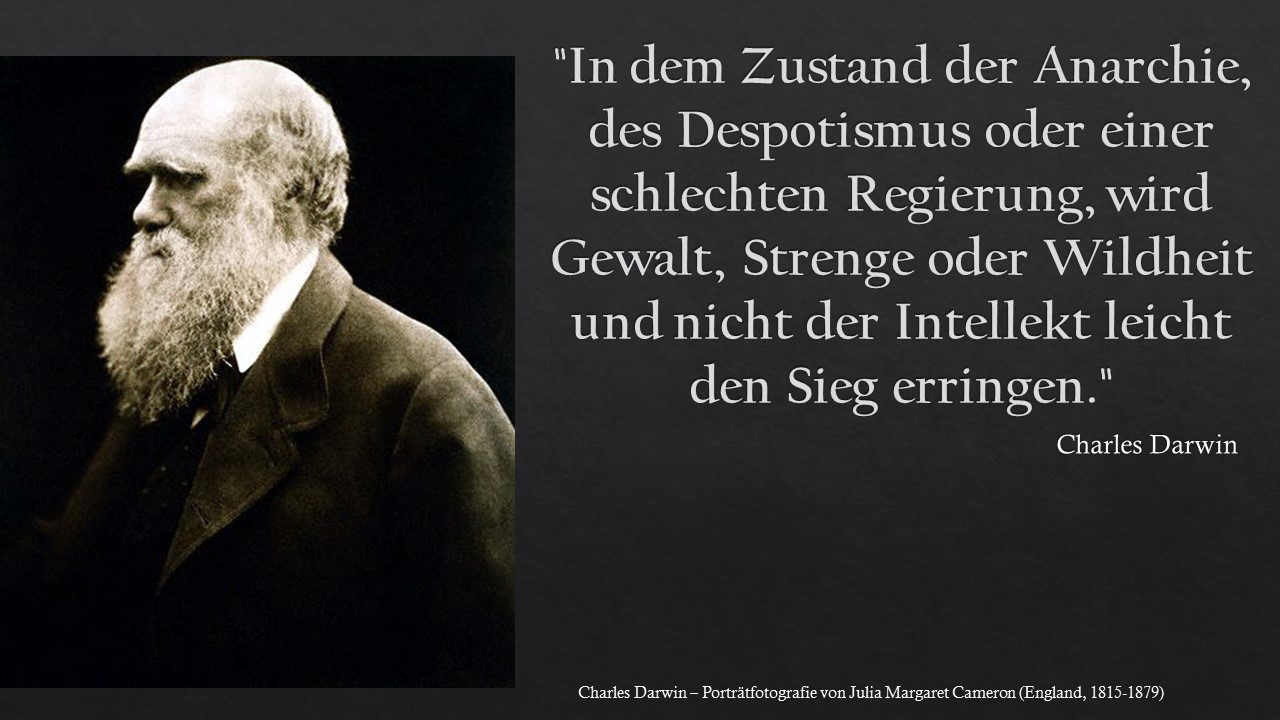 In dem Zustand der Anarchie - Charles Darwin