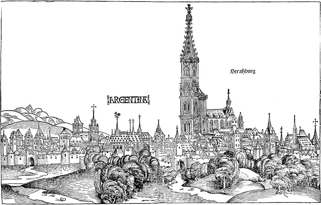 Schedelsche Weltchronik - Ansicht Straßburg
