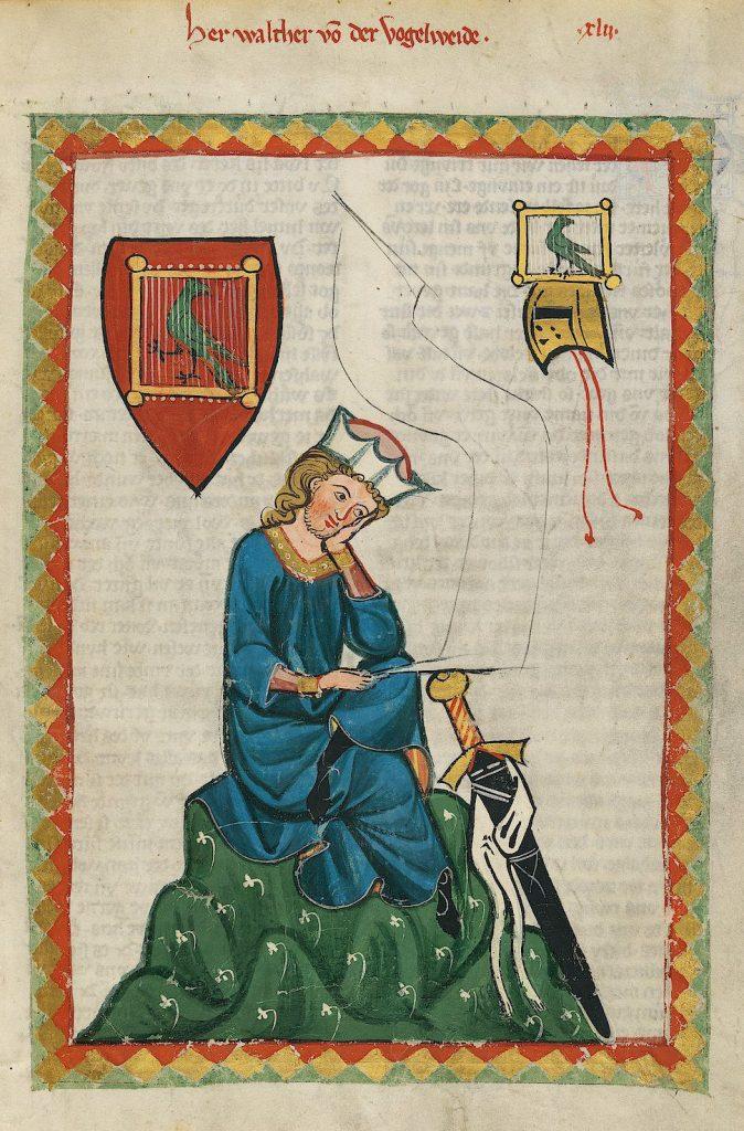 Walther von der Vogelweide - Codex Manesse