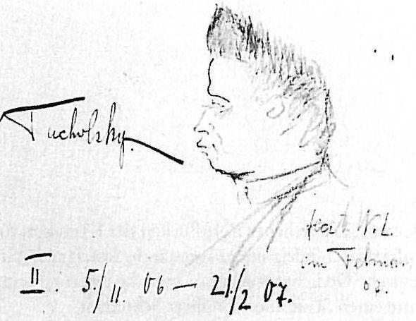 Portraät Kurt Tucholskys - Zeichnung