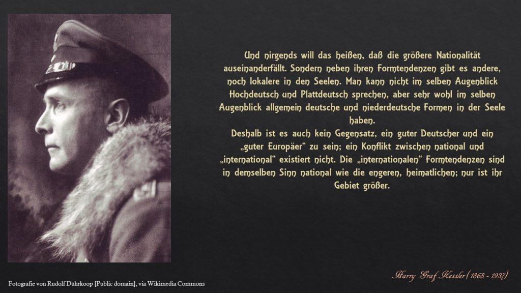 Zettelkasten Harry Graf Kessler - Ein guter Europäer
