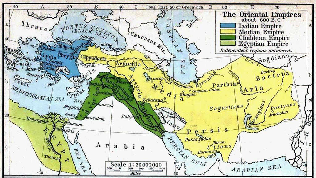 Karte von Mesopotamien