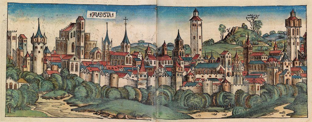 Darstellung Augsburgs in der Schedelschen Weltchronik, 1493,