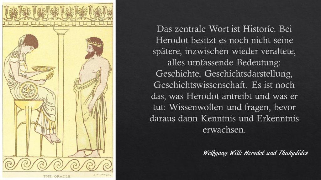 Zettelkasten Wolfgang Will über die Bedeutung und die Definition von Historie bei Herodot