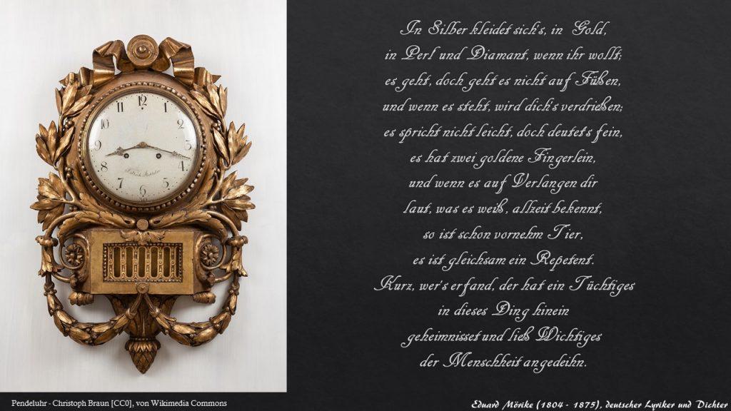 Eduard Möriker ein Gedicht über die Uhr