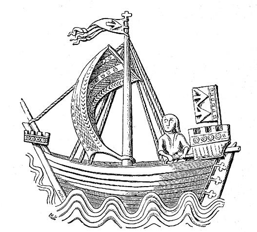 Kogge aus dem Siegel der Stadt Stralsund