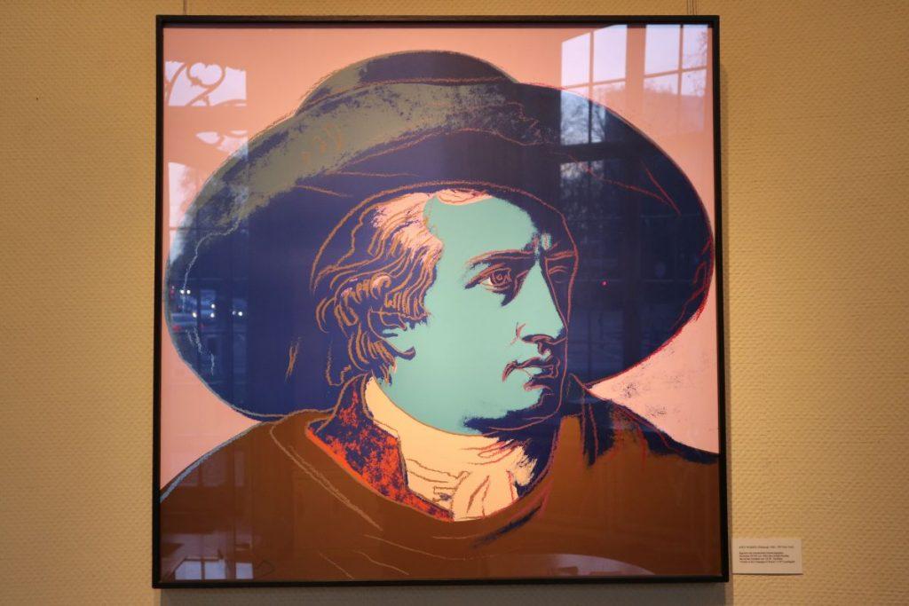Andy Warhols Darstellung Goethes im Düsseldorfer Goethe-Museum