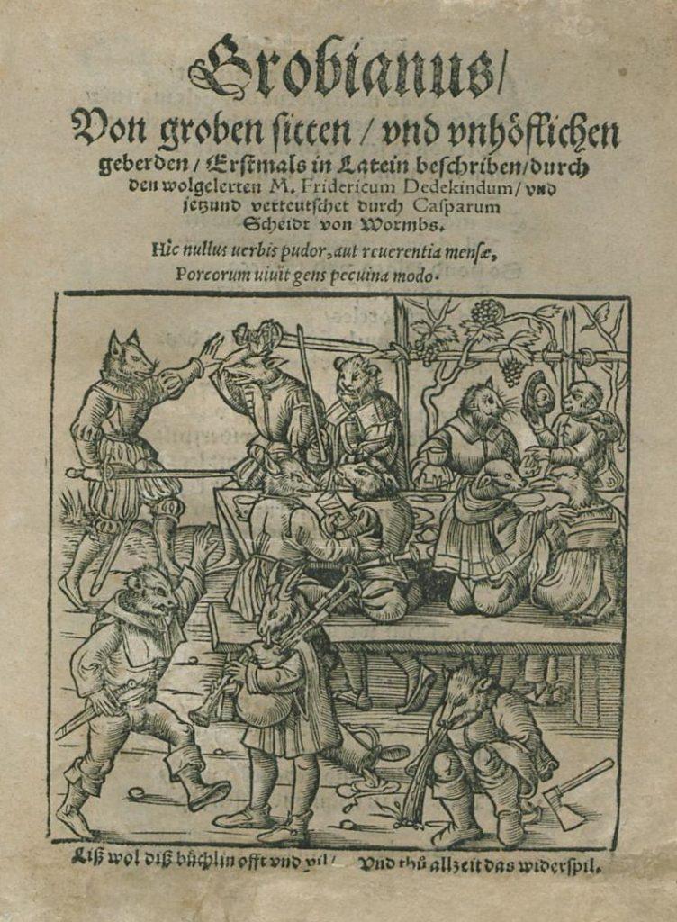 Caspar Scheidt Grobianus Tischzucht
