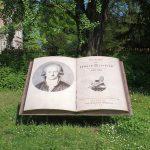Romantisch - Die Leiden des jungen Werther neben dem Goethe-Museum in Düsseldorf