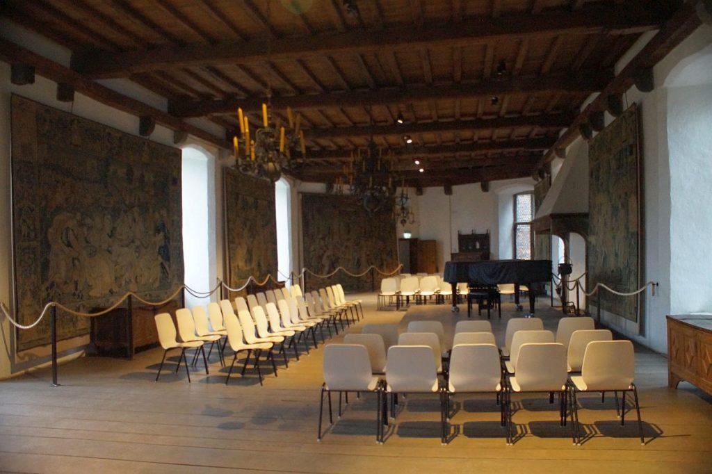 oberer Rittersaal von Burg Linn