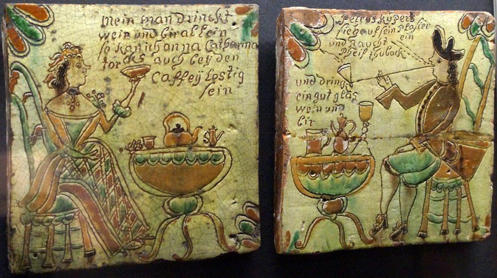 Niederrheinische Fayence-Keramik - Kaminplatten - Museum Burg Linn