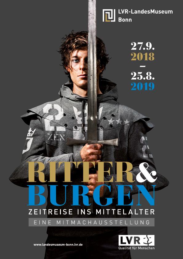 "Plakat Ausstellung ""Ritter und Burgen"" LVR-Landesmuseum Bonn"