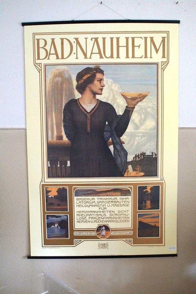 Werbeplakat für Bad Nauheim aus der Zeit des Jugendstils