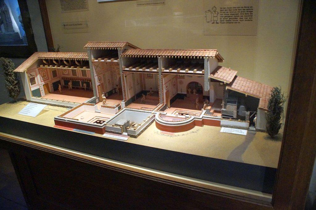 Modell der Badeanlagen im Kastell Saalburg