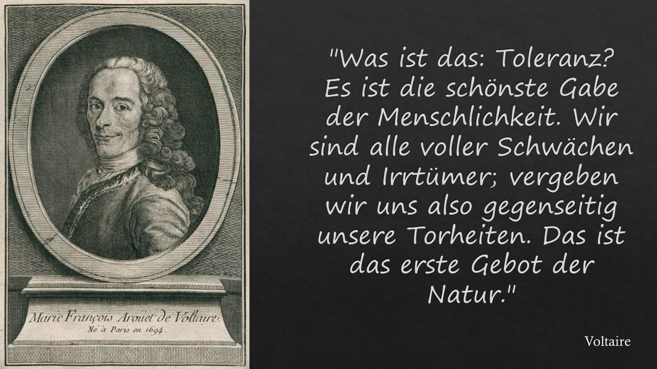 Voltaire - Was ist Toleranz