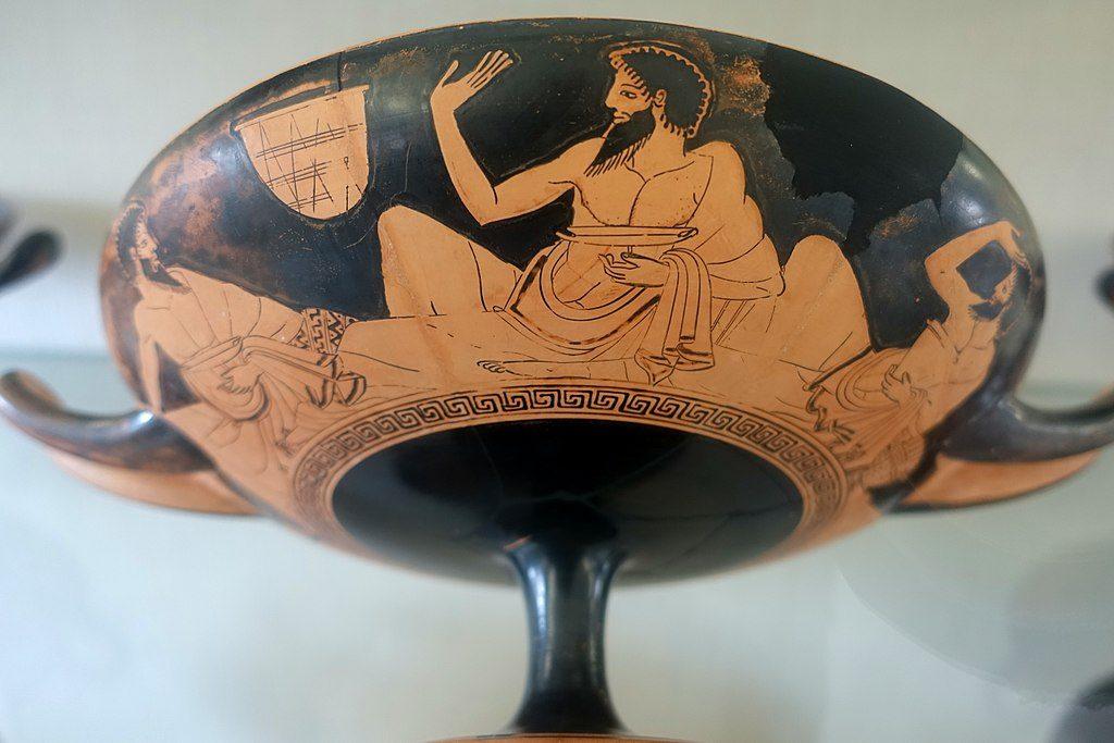antikes griechisches Trinkgefäß