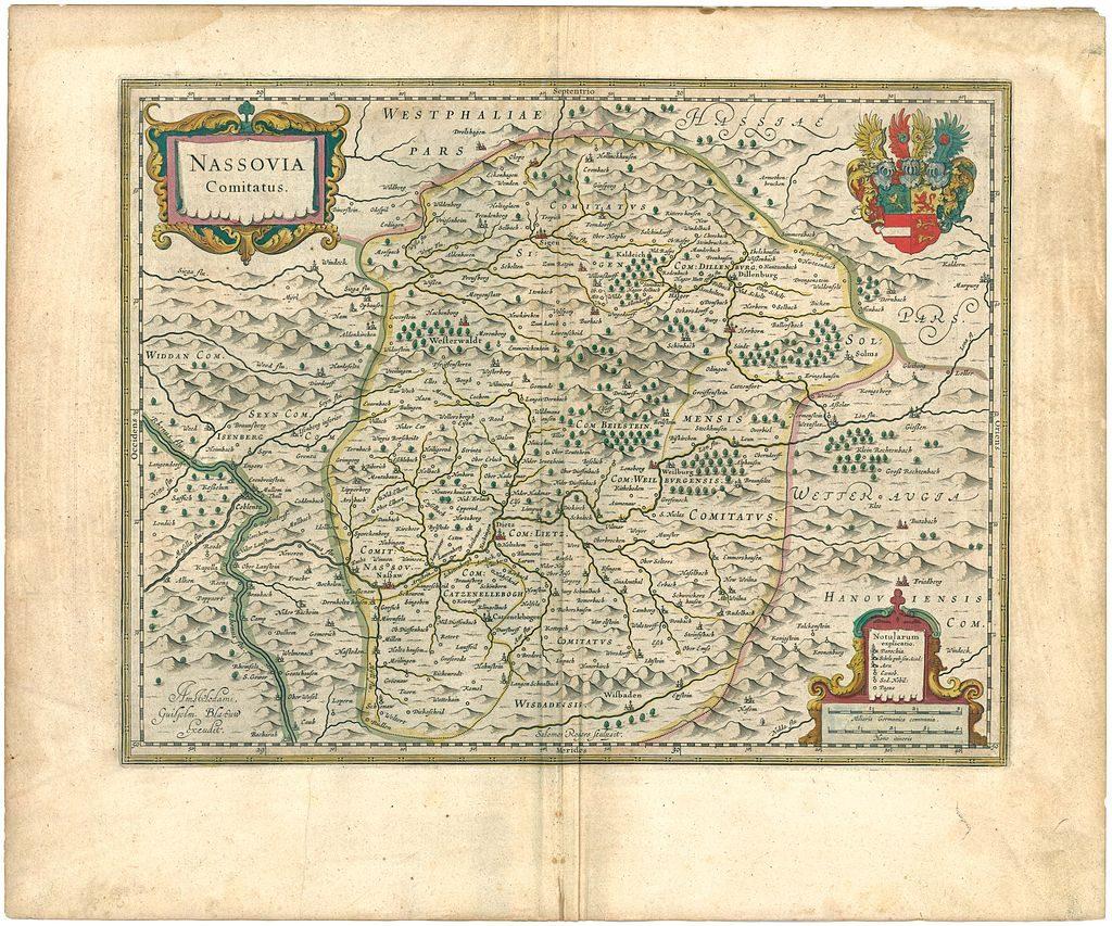 historische Karte Grafschaft Nassau