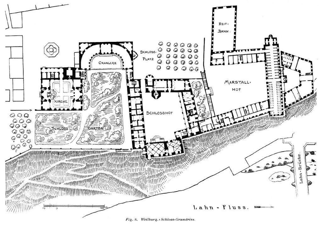 Grundriss Schloss Weilburg