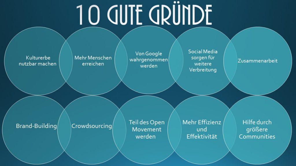 10 Gründe für Kulturvermittlung digital