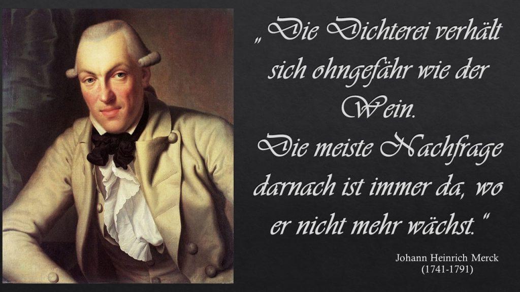 Johann Heinrich Merck und die Verwandtschaft von Dichtung und Wein