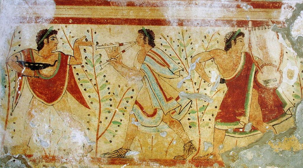 etruskische Tänzer und Musiker