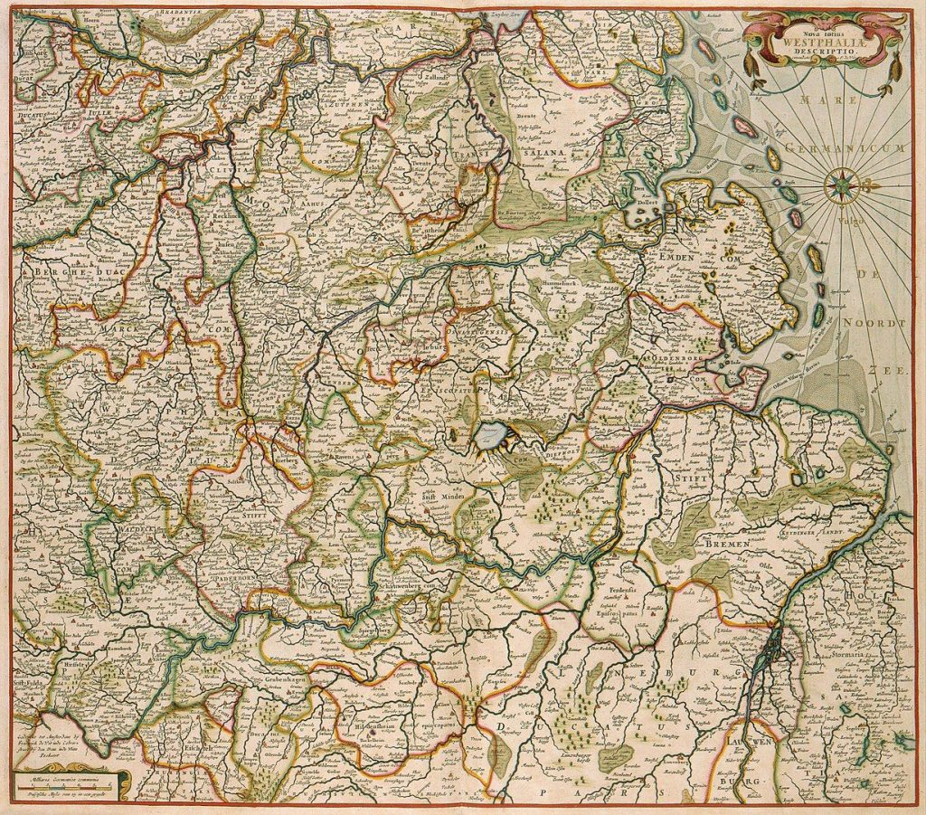 Frederik de Wit (1630-1706). De Wit based his map on the one by Gerardus Mercator (1512-1594) of 1575