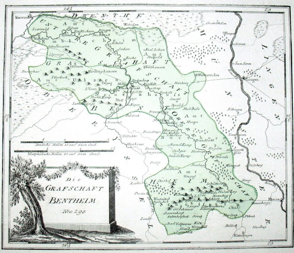 Die Grafschaft Bentheim um 1794/95 von Franz Johann Joseph von Reilly