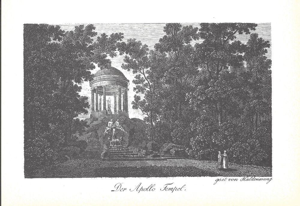 Zeichnung Zeyher Apollo Tempel