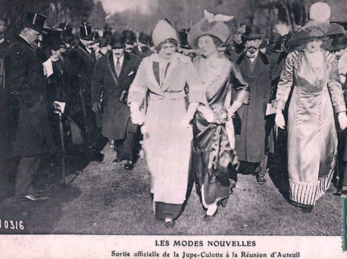 französische Mode Postkarte